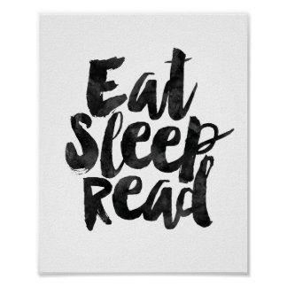 Eat Sleep Read Poster