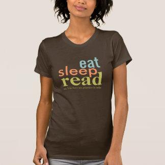 Eat Sleep Read Priorities in Order Retro Colors T-Shirt