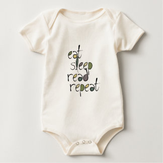 Eat, Sleep, Read, Repeat Baby Bodysuit