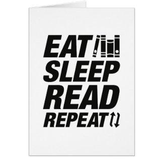Eat Sleep Read Repeat Card