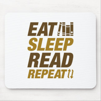 Eat Sleep Read Repeat Mouse Pad