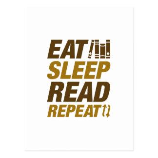Eat Sleep Read Repeat Postcard
