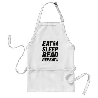 Eat Sleep Read Repeat Standard Apron