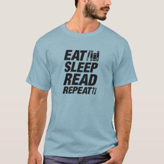 Eat Sleep Read Repeat T-Shirt