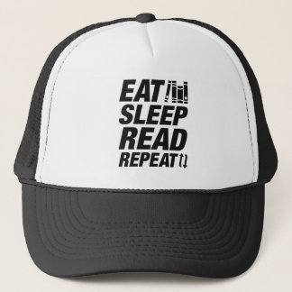 Eat Sleep Read Repeat Trucker Hat