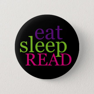 Eat, Sleep, READ - Retro 6 Cm Round Badge