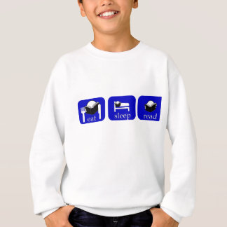 eat sleep read - specially for booklovers! sweatshirt