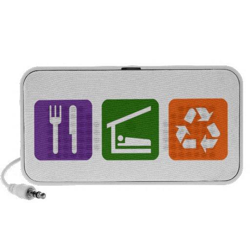 Eat Sleep Recycle Portable Speakers