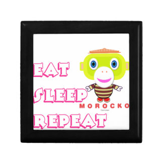 Eat Sleep Repeat-Cute Monkey-Morocko Gift Box