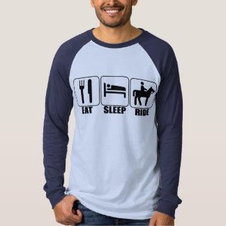 Eat Sleep Ride a Horse 3/4 Sleeve Equestrian Shirt