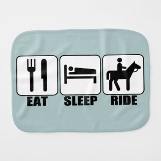 Eat Sleep Ride a Horse Equestrian Horseback Riding Baby Burp Cloth