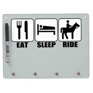 Eat Sleep Ride a Horse Equestrian Horseback Riding Dry-Erase Board
