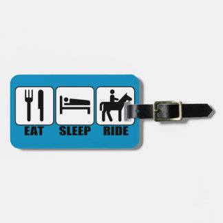 Eat Sleep Ride a Horse Equestrian Horseback Riding Tag For Bags