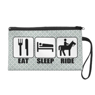Eat Sleep Ride a Horse Equestrian Horseback Riding Wristlets