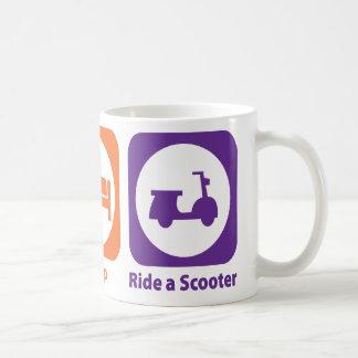Eat Sleep Ride a Scooter Mugs