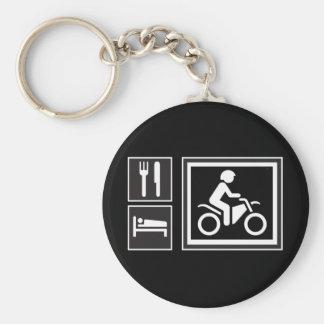 Eat. Sleep. RIDE! Basic Round Button Key Ring