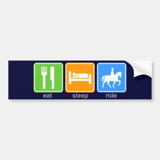 Eat Sleep Ride Bumper Stickers
