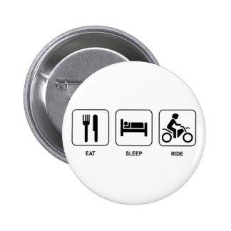 Eat Sleep Ride Button