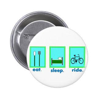eat sleep ride Cyclicst biking gifts Pins