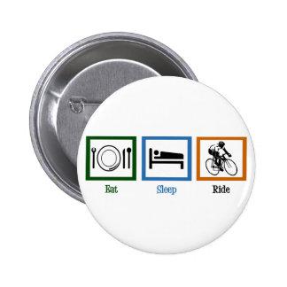 Eat Sleep Ride (Cyclists) 6 Cm Round Badge