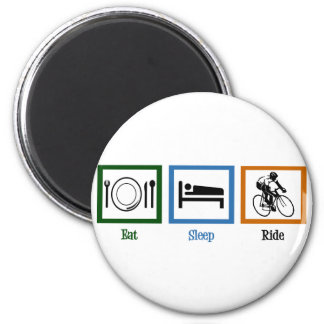 Eat Sleep Ride (Cyclists) 6 Cm Round Magnet
