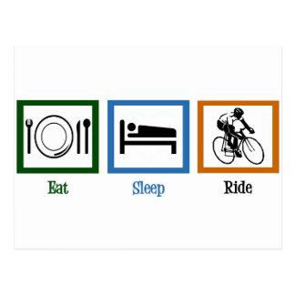 Eat Sleep Ride (Cyclists) Postcard