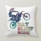 Eat Sleep Ride Dirt Bike Cushion