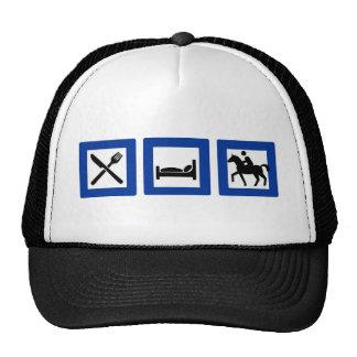 eat sleep ride mesh hats