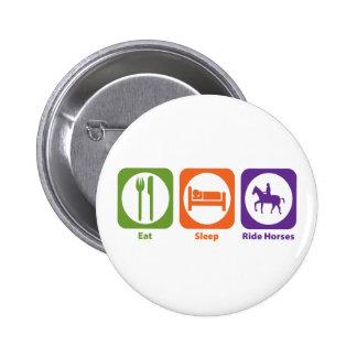 Eat Sleep Ride Horses Pin