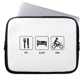 Eat Sleep Ride Laptop Computer Sleeves