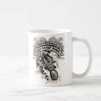 Eat, Sleep, Ride Motocross Coffee Mug