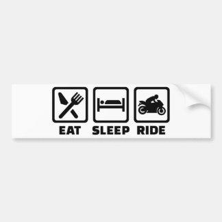 Eat sleep ride motorcycle bumper sticker