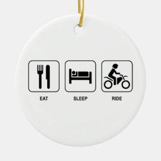 Eat Sleep Ride Christmas Ornament