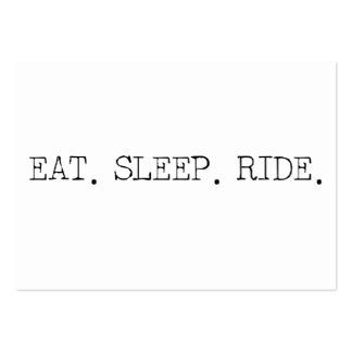 Eat Sleep Ride Pack Of Chubby Business Cards