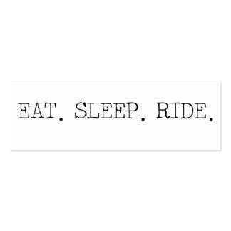 Eat Sleep Ride Pack Of Skinny Business Cards