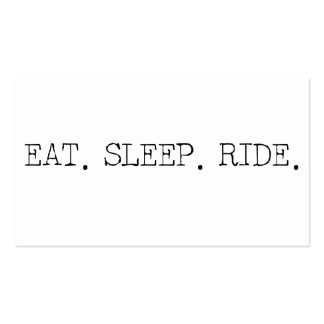Eat Sleep Ride Pack Of Standard Business Cards