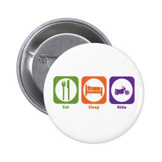 Eat Sleep Ride Pinback Button