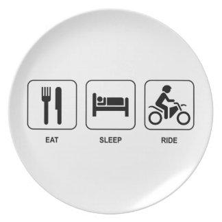 Eat Sleep Ride Party Plates