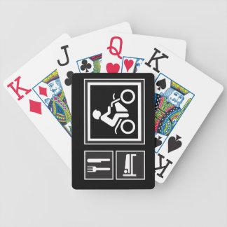 Eat Sleep Ride Poker Deck