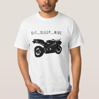 EAT...SLEEP...RIDE...RACE BIKE PRINT T-Shirt