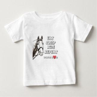Eat Sleep Ride Repeat Baby T-Shirt