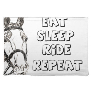 Eat Sleep Ride Repeat Placemat