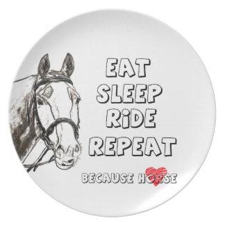 Eat Sleep Ride Repeat Plate