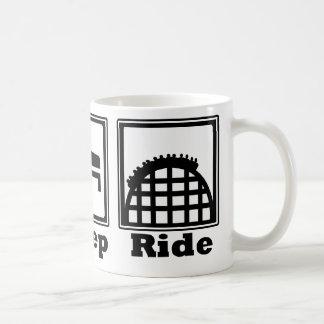 Eat, Sleep, & Ride (Roller Coasters) - Black Mug