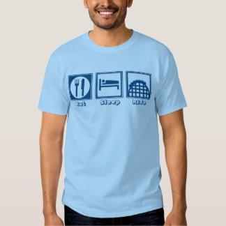 Eat Sleep & Ride (Roller Coasters) - Blue T Shirt