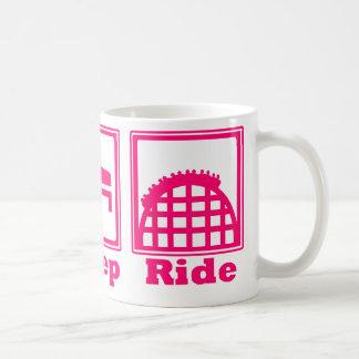 Eat, Sleep, & Ride (Roller Coasters) - Pink Coffee Mug