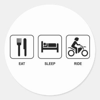 Eat Sleep Ride Round Sticker