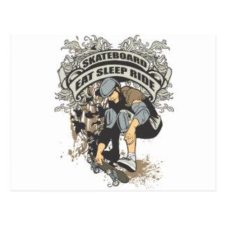 Eat, Sleep, Ride Skateboard Postcard