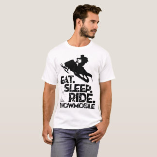 Eat Sleep Ride  Snowmobile T-Shirt