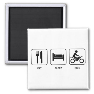 Eat Sleep Ride Square Magnet